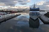 Quiet sea in Reykjavik