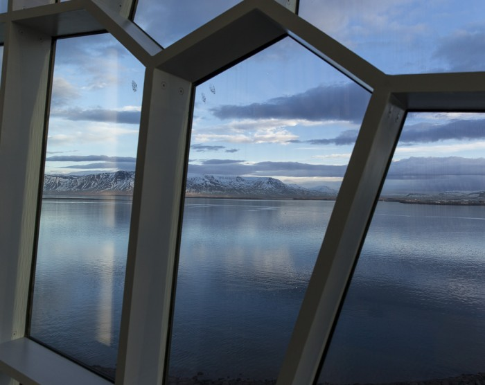 Thru the windows of Harpa